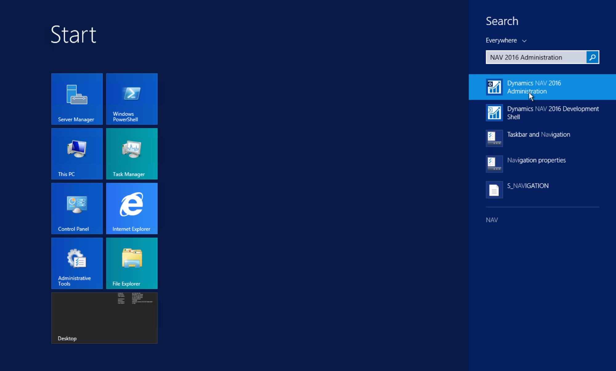 Windows to NAV login steps