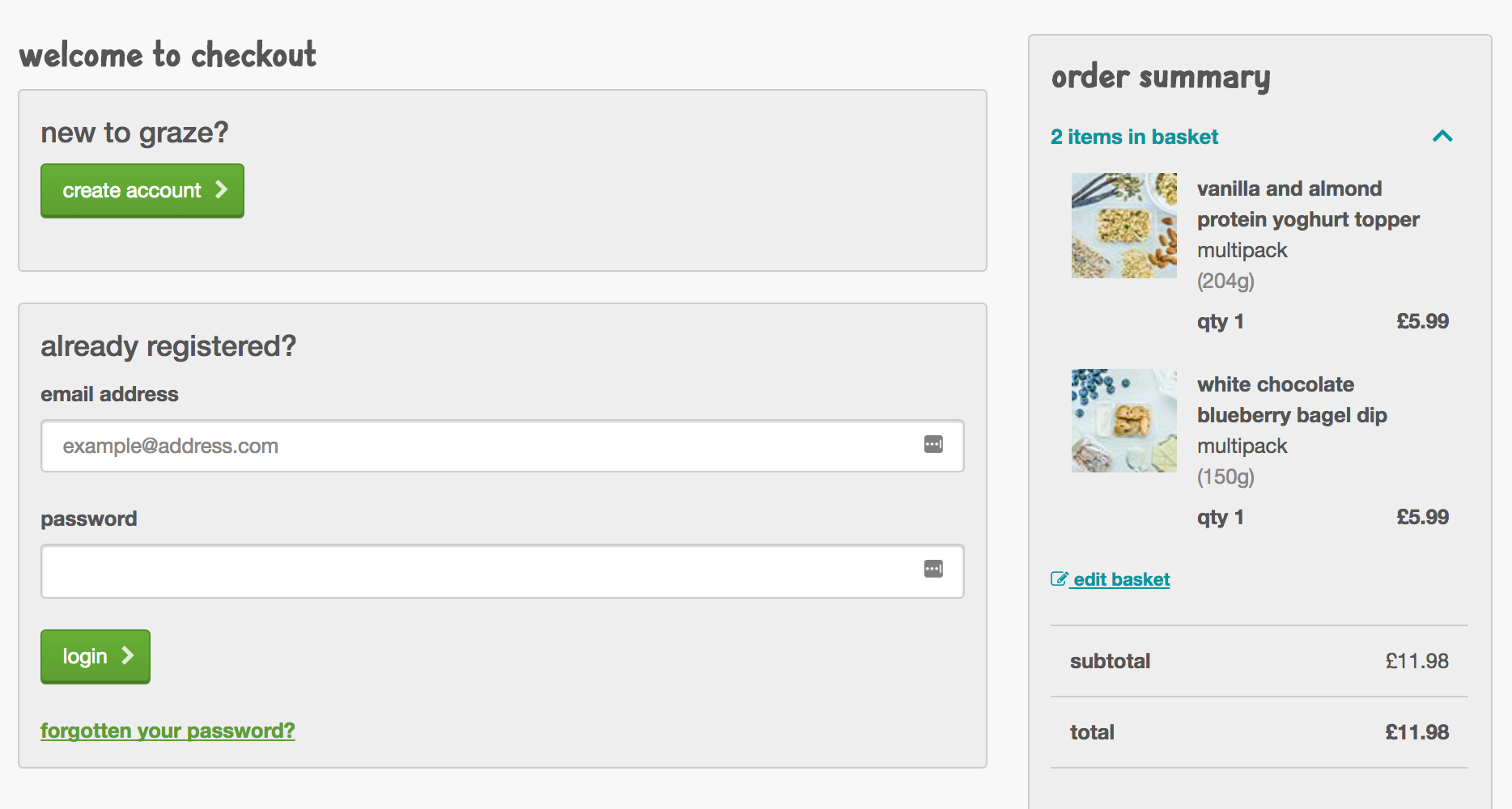 The customised Magento 2 checkout takes less than 2 seconds to load