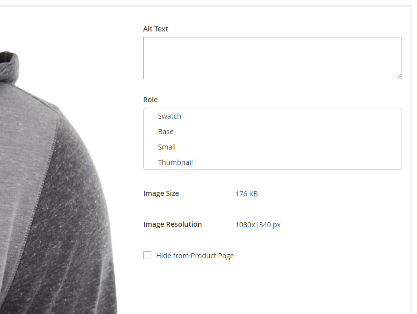 Screenshot of image metadata detail