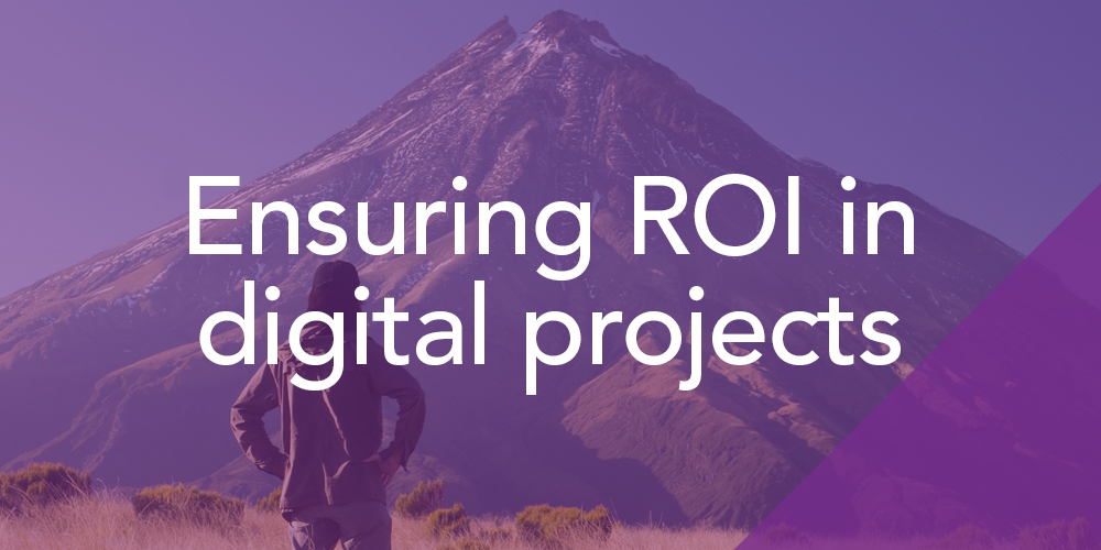 Ensuring ROI in Digital Projects