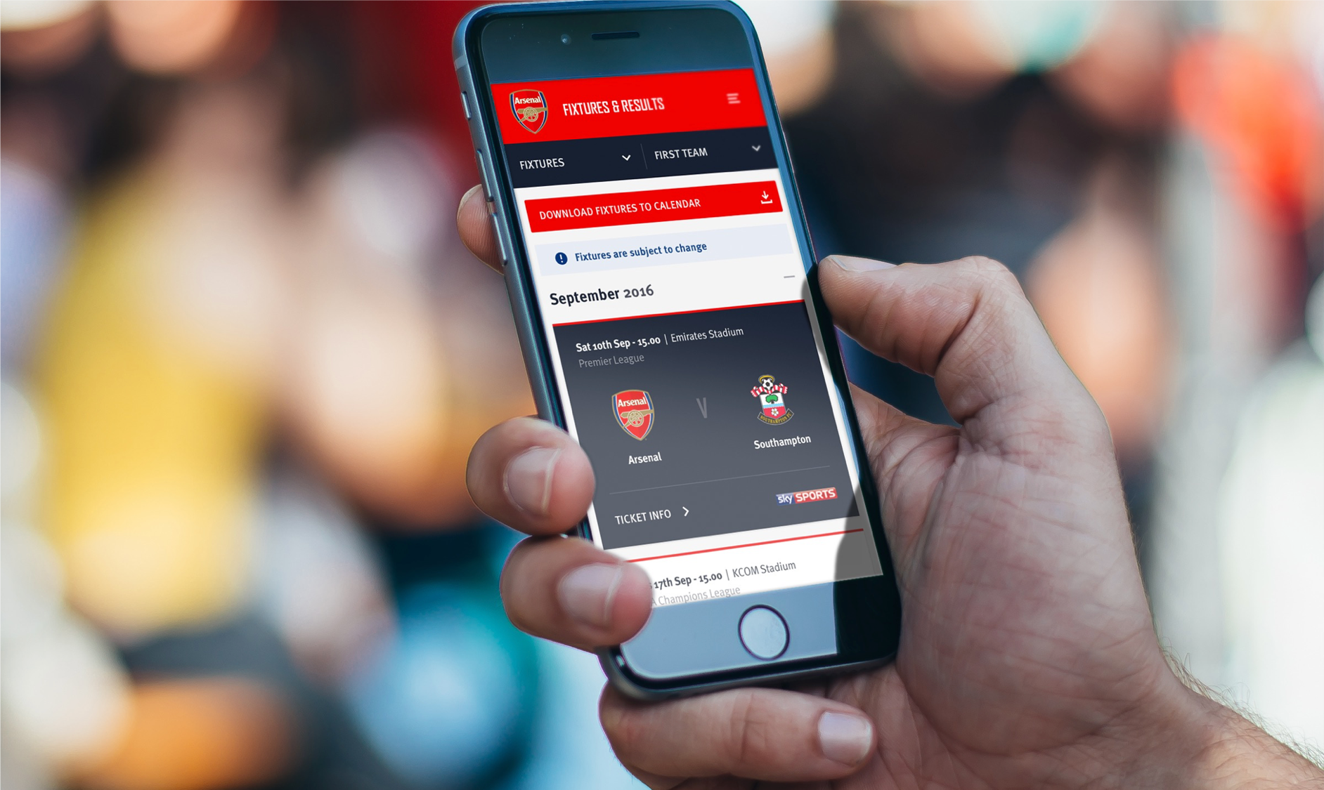 Arsenal mobile experience