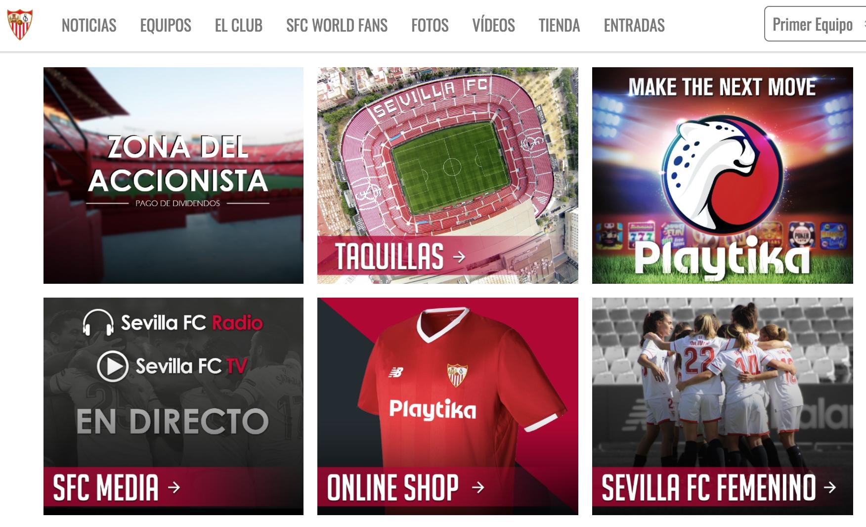 Sevilla FC Drupal 8 website