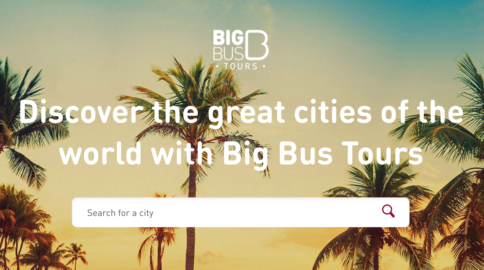 Big Bus Tours magento 2 site