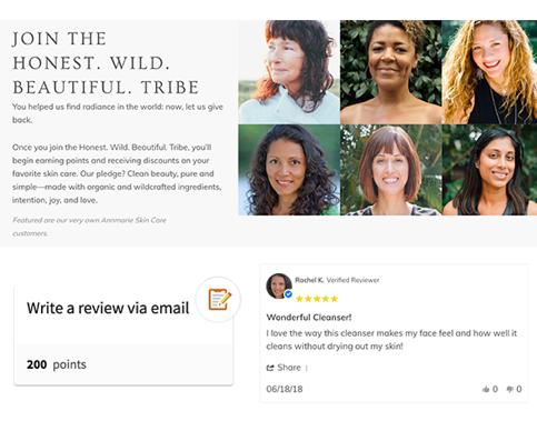 Screenshot of Honest. Wild. Beautiful. Tribe